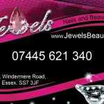Jewels Nail and Beauty business card