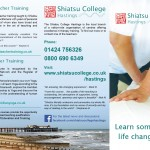 Shiatsu College Hastings trifold leaflet by 5 element design